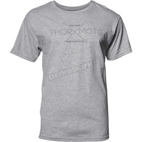 Thor Mens Heather Gray X Tee Shirt - 3030-16007