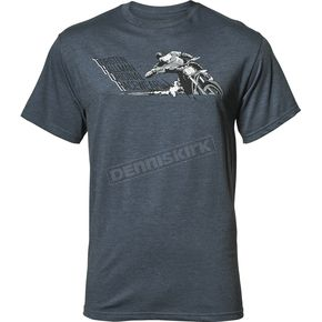Thor Mens Heather Navy Skid Tee Shirt - 3030-16028