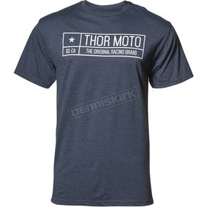 Thor Mens Navy Heather  Establish Tee Shirt - 3030-16048