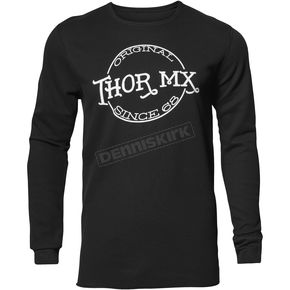 Thor Mens Black  Whiskey Thermal Long Sleeve Shirt  - 3030-16091