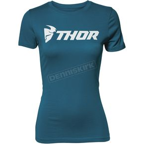 Thor Womens Teal Loud Tee Shirt - 3031-3194