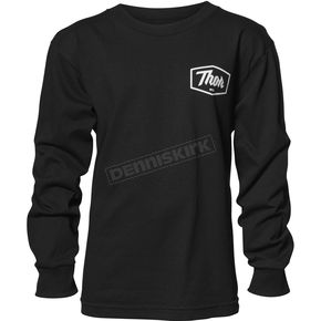 Thor Boys Black Script Long Sleeve T-Shirt - 3032-2588