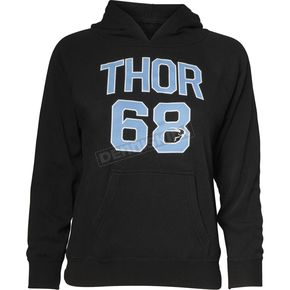 Thor Girls Black Team Pullover Sweatshirt - 3052-0434