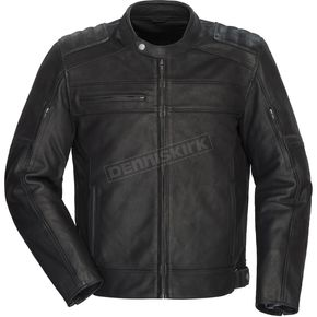 Blacktop Leather Jacket w/Hood