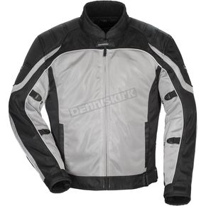Tour Master Silver/Black Intake Air 4.0 Jacket - 8767-0407-16