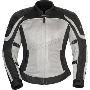 Tour Master Women's Silver/Black Intake Air 4.0 Jacket - 8767-0407-75