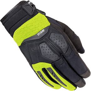 Cortech Women's Black/Hi-Viz DXR Gloves - 8316-0113-74