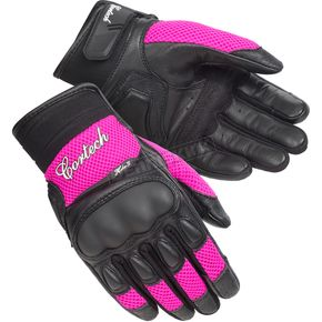 Cortech Women's Black/Pink HDX 3 Gloves - 8330-0308-74