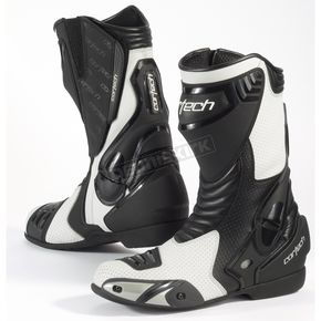 Cortech White/Black Latigo Air Road Race Boots - 8591-0109-46