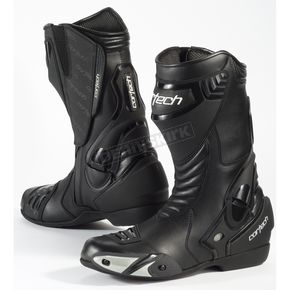 Cortech Black Latigo Waterproof Road Race Boots - 8591-1105-43