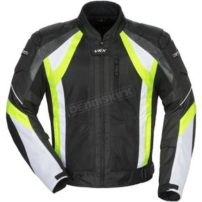 Cortech Black/Hi-Viz/White VRX Air Jacket - 8951-0113-06