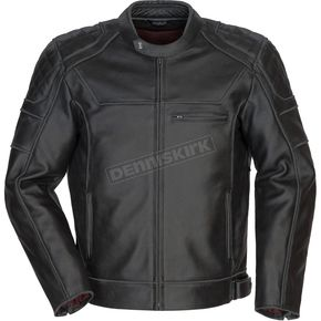 Cortech Black Dino Leather Jacket - 8965-0105-06