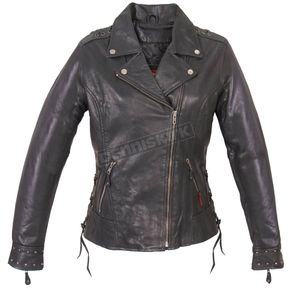 Hot Leathers Women's Leather Lace-Up Jacket - JKL1026XL