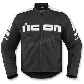 Icon Black/White Motorhead 2 CE-Rated Leather Jacket  - 2810-3273