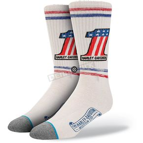 Stance White Harley Davidson Number One Socks - M330C15FRE-LG/XL