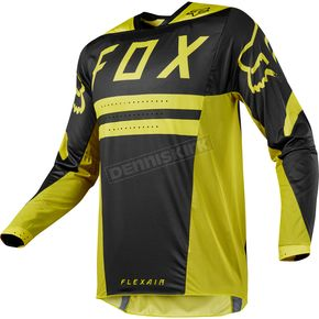 Fox Dark Yellow Flexair Preest Jersey - 19414-547-L