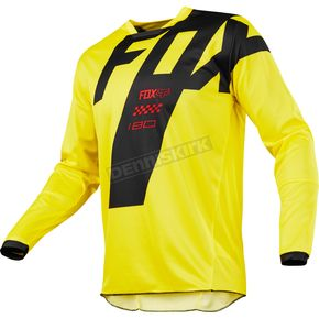 Fox Yellow 180 Mastar Jersey - 19430-005-XL