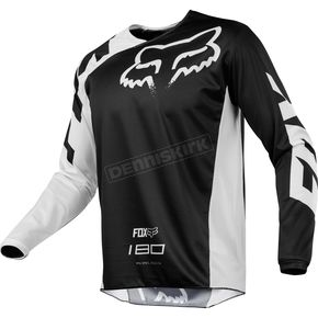Fox Black 180 Race Jersey - 19426-001-XL