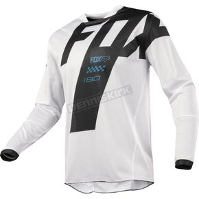 Fox White 180 Mastar Airline Jersey - 19434-008-L