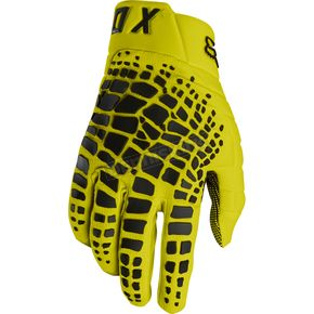 Fox Yellow 360 Grav Gloves - 17289-005-XL