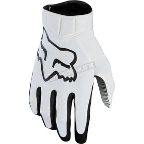 Fox White Airline Race Gloves - 20489-008-XL