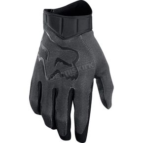 Fox Black/Charcoal Airline Race Gloves - 20489-324-XL
