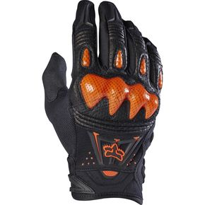 Fox Black/Orange Bomber Gloves - 03009-016-M