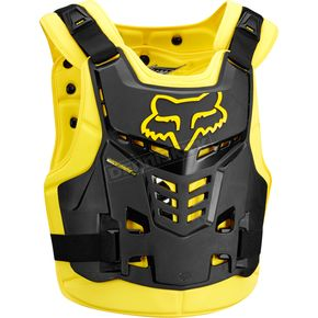 Fox Black/Yellow Proframe LC Roost Deflector - 13577-019-L/XL