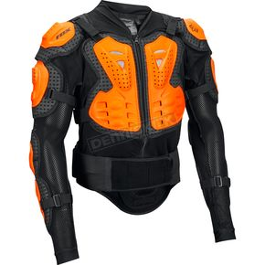 Fox Black/Orange Titan Sport Jacket Body Armor - 10050-016-S