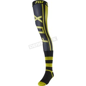 Fox Dark Yellow Preest Knee Brace Socks - 21290-547-M