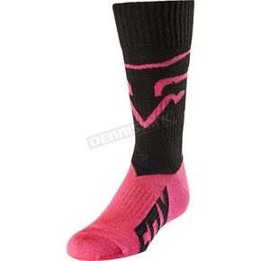 Fox Youth Black MX Socks - 20029-001-L