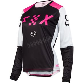 Fox Women's Black/Pink Switch Jersey - 19465-285-XL