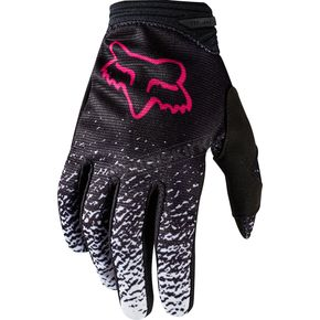 Fox Youth Girl's Black/Pink Dirtpaw Gloves - 19508-285-XS