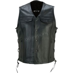 Women's Black Gaucha Vest - 2831-0072