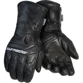 Black Synergy 7.4-Volt Battery Powered Heated Leather Gloves - 8766-7405-05