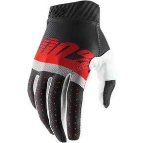 Steel Gray/Red Ridefit Gloves