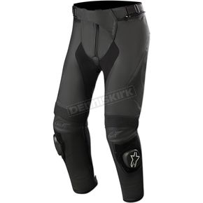 Black Short Missile v2 Leather Pants