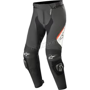 Black/White/Fluorescent Red Missile v2 Airflow Leather Pants