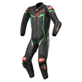 Black/Bright Green GP Pro V3 Leather Suit Tech Air Compatible