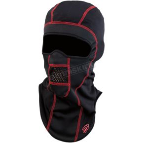 Black/Red Windshield Balaclava