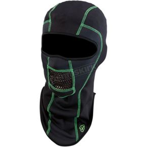Black/Green Pro Stretch Balaclava