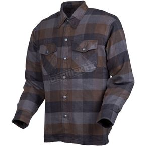Black/Brown/Grey Covert Moto Flannel Shirt