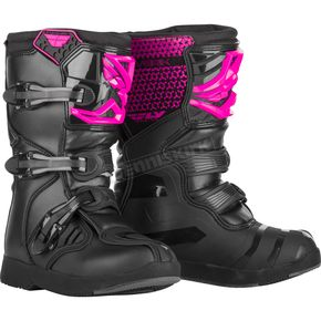Youth Pink/Black Maverick Boots