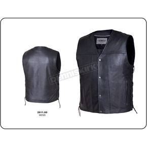 Men's Black Premium Cowhide Leather Durango Conceal And Carry Vest - 2611.00XXL