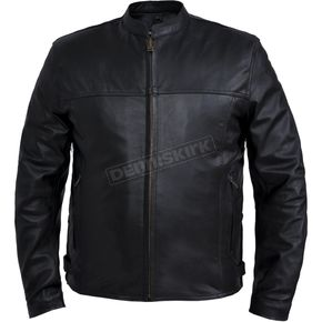 Men's Black Naked Goatskin Conceal And Carry Jacket