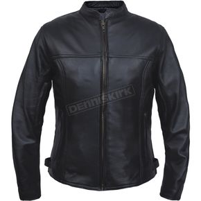 Women's Black Naked Goat Leather Conceal And Carry Jacket