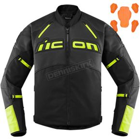 Hi-Viz Contra 2 Leather Jacket
