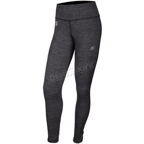 Women's Black Heather Solstice 3.0 Base Layer Pants