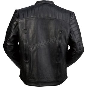 Black Leather Artillery Jacket