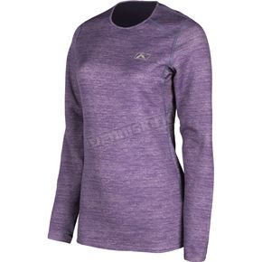 Women's Deep Purple Heather Solstice 1.0 Base Layer Shirt